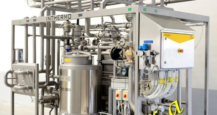 """Fully automated plate UHT plant """"INTHERMO"""" 12 m3/h"""